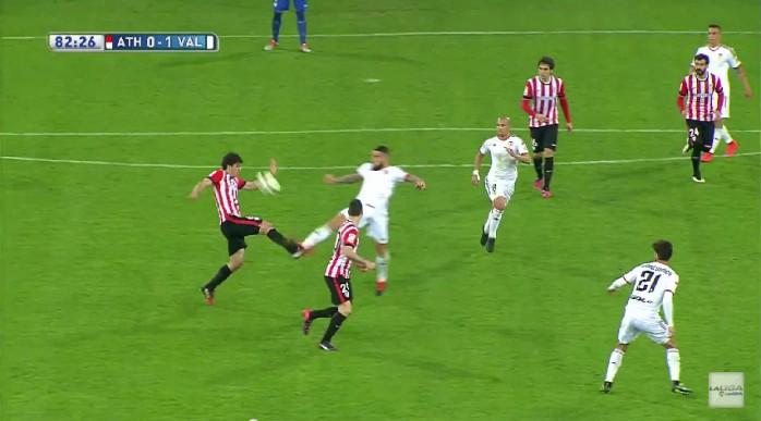 Otamendi expulso Valencia Athletic Bilbao