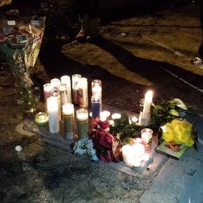 Fãs fazem vigília em local da morte de Paul Walker (Foto: Reprodução/Instagram)