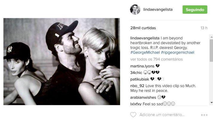 Linda Evangelista (Foto: Reprodução/Instagram)