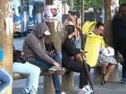 Motoristas de ônibus fazem paralisação na região de São Roque