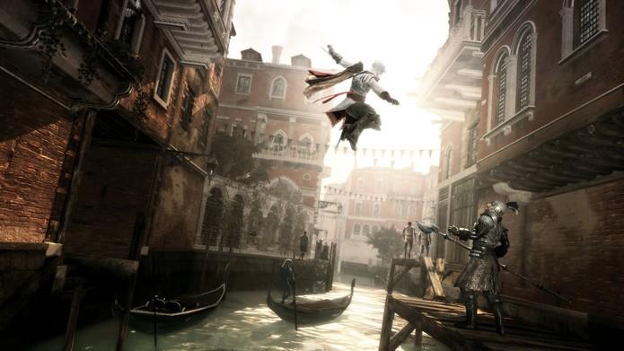 Ezio em açao em Assassins Creed 2 (Foto: Divulgação/Ubisoft)