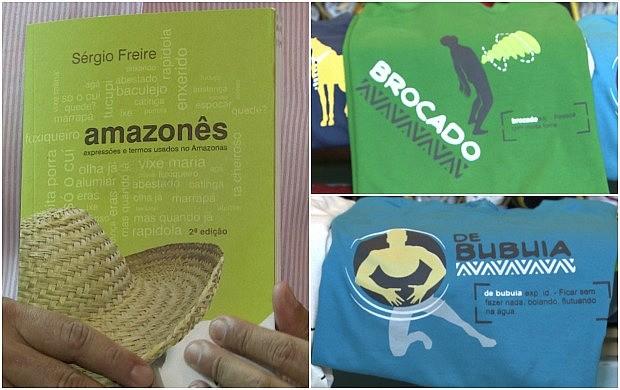 Expressões amazonenses ganham espaço em livro e camisas (Foto: Amazônia em Revista)