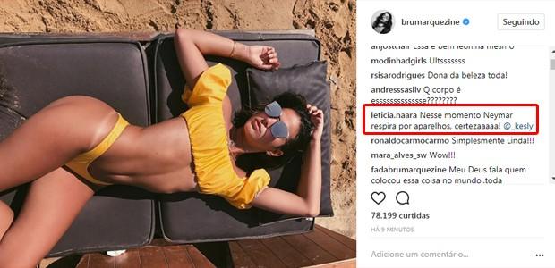Seguidores comentam em foto de Bruna Marquezine (Foto: Reprodução/Instagram)