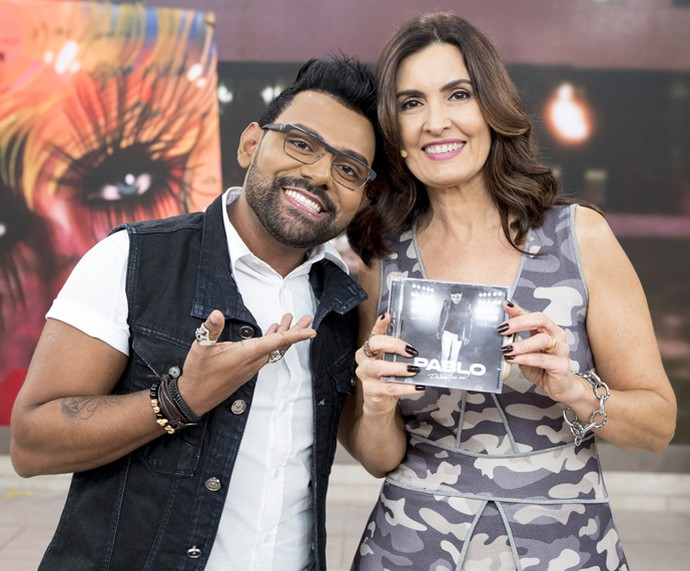 O cantor Pablo do arrocha animou o 'Encontro' (Foto: Ellen Soares/Gshow)