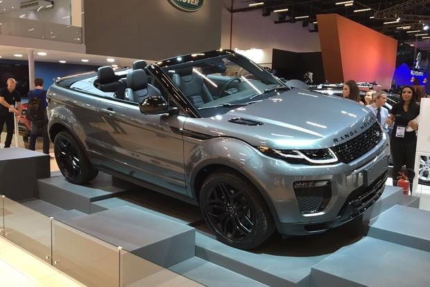 Land Rover Range Rover Evoque conversível no Salão do Automóvel 2016 (Foto: Guilherme Blanco Muniz/Autoesporte)