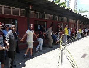 Ginásio Flamengo fogo (Foto: Vicente Seda / Globoesporte.com)