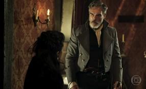 Raposo repudia a atitude de Joaquina e Virgínia pede que a jovem vá embora