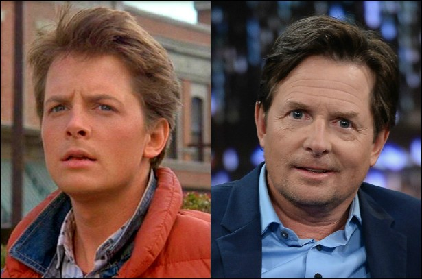 Além de estrelar uma sitcom inspirada em sua própria vida, 'The Michael J. Fox Show', e fazer participações em outros seriados, Michael J. Fox, de 53 anos, será para sempre lembrado como o Marty McFly da trilogia 'De Volta para o Futuro', iniciada em 1985 e concluída em 1990. (Foto: Reprodução e Getty Images)