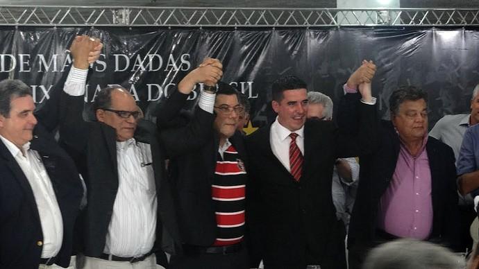 Posse do novo presidente do Santa Cruz Alírio Moraes (Foto: Daniel Gomes)