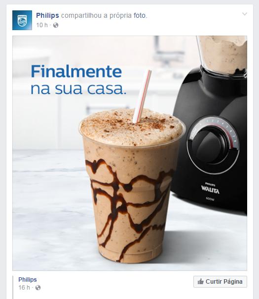 Até a Philips aproveitou a polêmica para alavancar suas redes sociais (Foto: Reprodução/Facebook)
