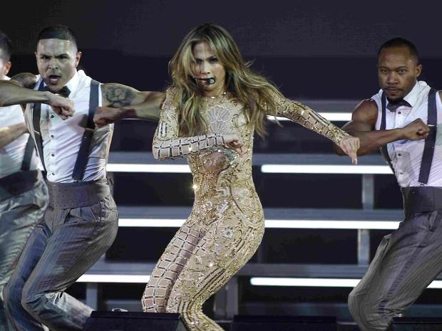 Jennifer Lopez canta em evento em Phoenix, nos Estados Unidos (Foto: Ralph Freso/ Reuters)