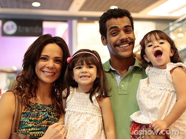 Vanessa Gerbelli, Bruna Faria, Marcello Melo Jr. e Maria Eduarda  (Foto: Felipe Monteiro / TV Globo)
