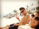 De biquíni, ex-BBB Andressa exibe belas curvas em Cancún