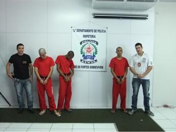 Três suspeitos presos pela polícia (Foto: Divulgação/Polícia Civil)