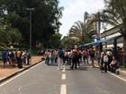 Estudantes do estado fazem protesto e interditam via rumo à Prefeitura