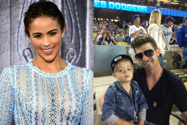 Paula Patton, Robin Thicke e Julian (Foto: Getty Images)