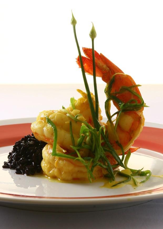 Receita camarão com curry (Foto: Divulgação)