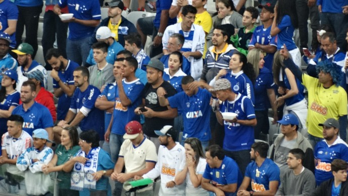 Torcida do Cruzeiro apoia muito o Cruzeiro dentro de campo (Foto: Maurício Paulucci)