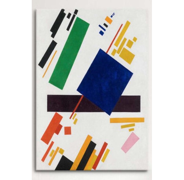 Suprematist Composition by Konstantin Malevich (1916, oil on canvas). Also revered for his pioneering studies of the black square, it was Malevich's colourful, abstract geometric works that inspired the Valentin Yudashkin Spring/Summer 2018 collection (Foto: Divulgação)