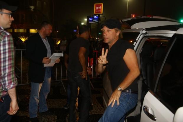 Jon Bon Jovi no Rio (Foto: Marcello Sá Barretto/AgNews)