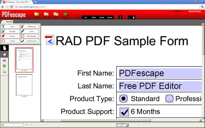 PDFescape Extension se integra ao Firefox (Foto: Divulgação/PDFescape)