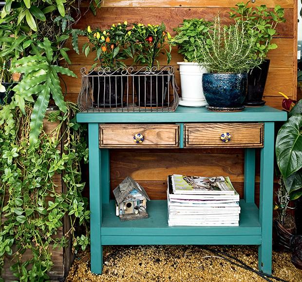 horta e jardim em pneus : horta e jardim em pneus:Hortas orgânicas – Casa e Jardim