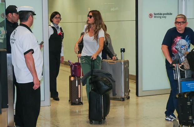 Gisele Bündchen desembarca em São Paulo (Foto: Manuela Scarpa/Brazil News)