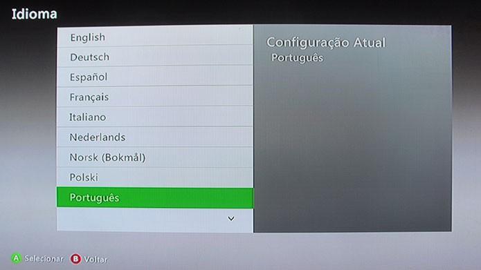 Mude o idioma do sistema no Xbox One e Xbox 360 (Foto: Reprodução/Tais Carvalho)