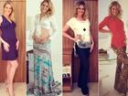 Prestes a dar à luz: confira o estilo de Ana Hickmann durante a gravidez