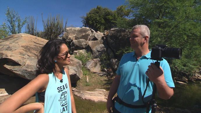 Samuel Morais diz que a mata branca esconde um mar de vida  (Foto: TV Bahia)