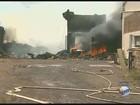Incêndio volta a atingir depósito de recicláveis em Serrana, SP