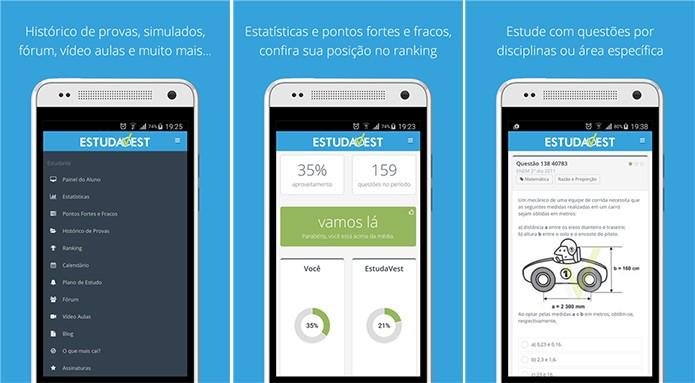 EstudaVest é um aplicativo que ajuda usuário a se preparar para vestibulares (Foto: Divulgação/Windows Phone Store)