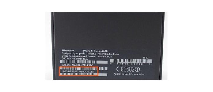 Verifique o IMEI na caixa e compare com a numeração escrita na parte de trás do aparelho (Foto: Reprodução/SmallBusiness)