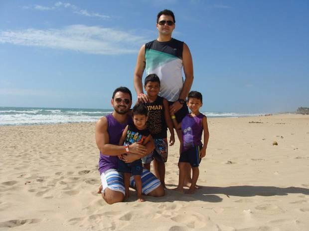 Família viajou para Fortaleza nas férias escolares de 2015. As crianças ficaram encantadas com o passeio. Belém Dia dos Pais  (Foto: Arquivo pessoal)