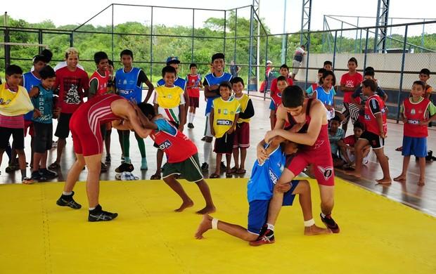 Caravana Esporte AM (Foto: Michael Dantas/Sejel)