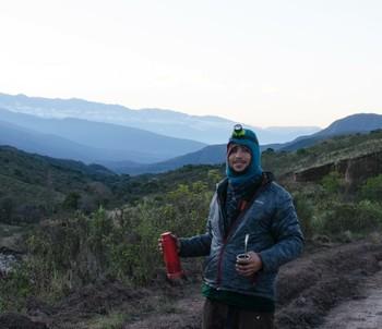Luis Antônio está na estrada há um ano e quase quatro meses, de bicleta (Foto: Luis Antônio/arquivo pessoal)