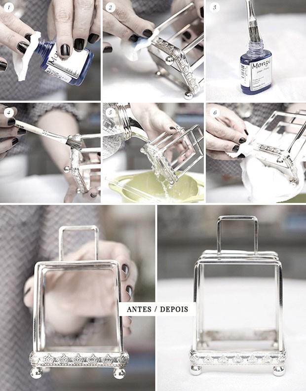 Como limpar a prataria (Foto: Michele Moll / Arte dos banners: Karen Hofstetter)