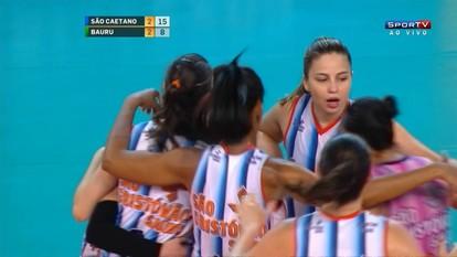 Melhores momentos São Caetano 3 x 2 Bauru pela Superliga de vôlei feminino