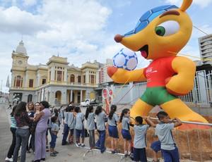 Mascote da Copa do Mundo  Belo Horizonte (Foto: Breno Pataro/Prefeitura de Belo Horizonte)