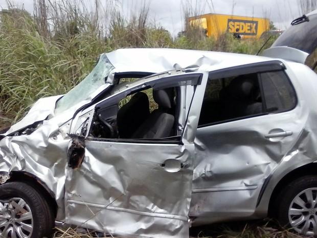 Outras quatro pessoas ficaram feridas em acidente (Foto: Sigisvaldo Vilares / Blog do Sigi Vilares)