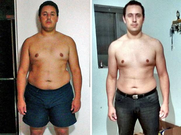 Márcio emagreceu 23 kg em pouco mais de um ano (Foto: Arquivo pessoal/Márcio Vinícius Cavalcante)