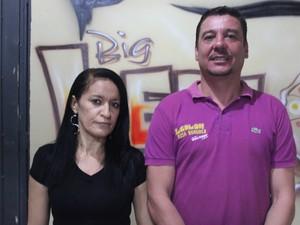 Casal Luciana Leite e Cláudio Rebelo  (Foto: Ellyo Teixeira/G1)