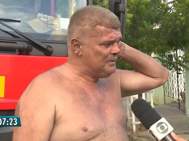 Pai ouviu latidos de cadela alertando para fogo e conseguiu escapar junto com a família na Paraíba (Foto: Reprodução / TV Paraíba)