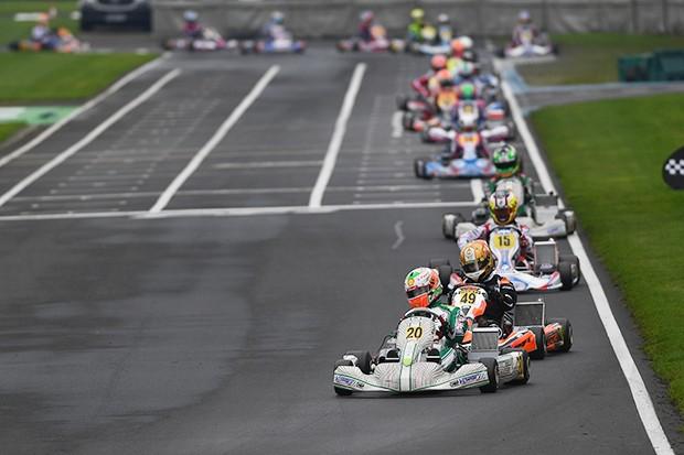 Gianluca Pentecof disputando o Mundial de Kart chegando em quinto lugar (Foto: Divulgação/Formula K)