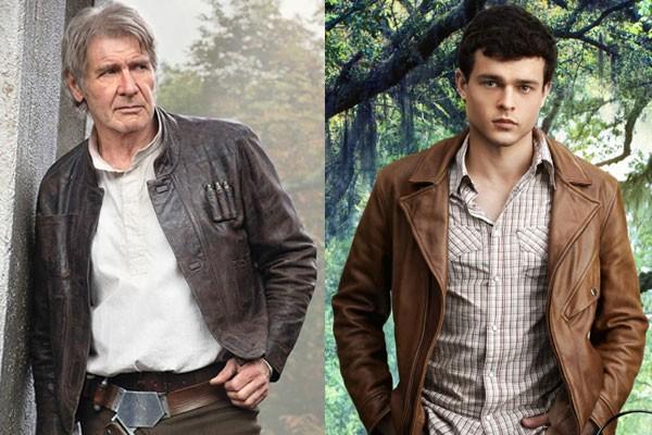 Harrison Ford e Alden Ehrenreich (Foto: Divulgação)