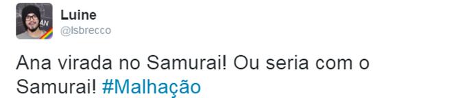 Internauta comenta tapa de Ana em Samurai (Foto: Reprodução)