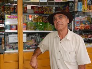 Lourival Barbosa é um dos personagens do Calçadão de Campina Grande (Foto: Diogo Almeida / G1)