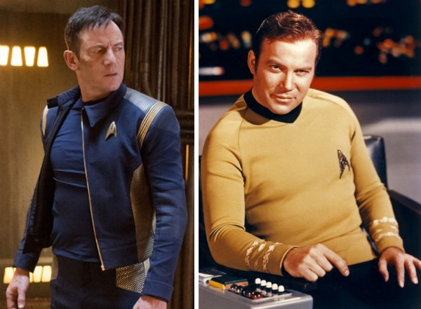Os atores Jason Isaacs e William Shatner como seus personagens em Star trek (Foto: Reprodução)