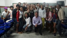 Jornalistas conversam com alunos sobre série 'Geração em Risco' (Renata/ TV Asa Branca)