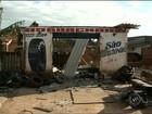 Compressor explode e derruba teto de borracharia em Ourinhos
